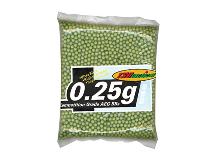 TSD Tactical Competition Grade Grade 6mm Plastic Airsoft BBs, 0.25g, 3,000 Rds, OD Green 6mm