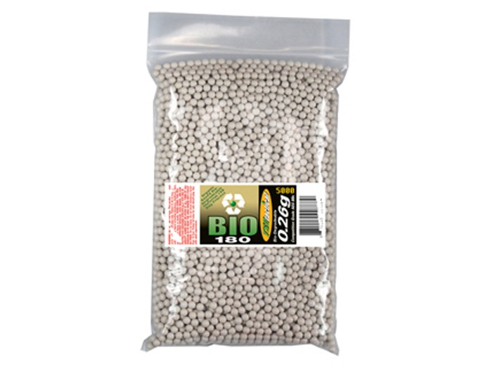 TSD Tactical Precision 180-BIO 6mm Airsoft BBs, 0.26g, 5000 rds, White