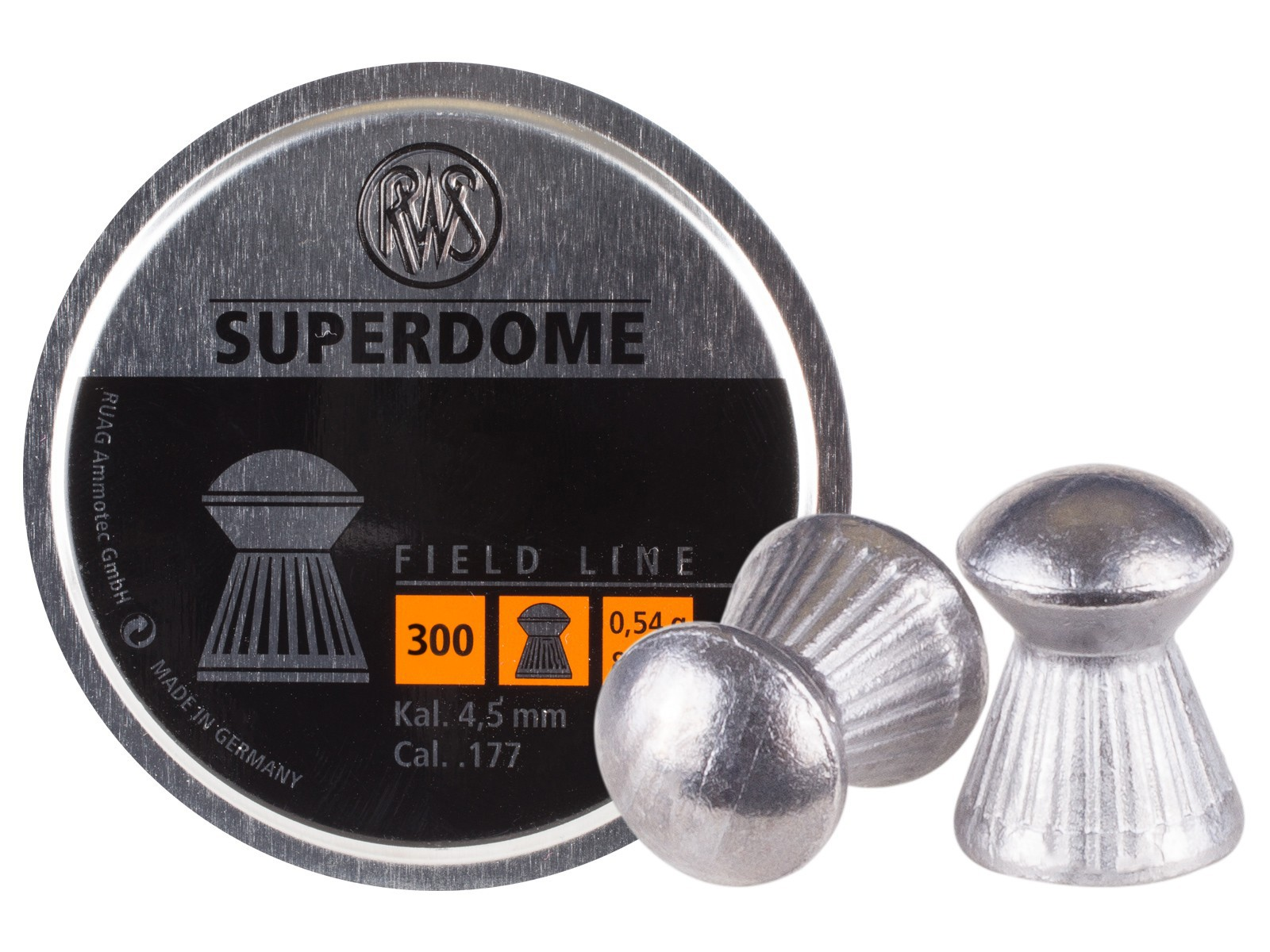 RWS Superdome .177 Cal, 8.3 Grains, Domed, 300ct
