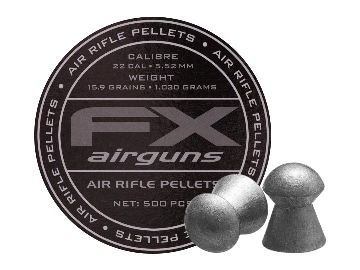 FX Air Rifle Pellets .22 Cal, 15.89 Grains, Domed, 500ct., 5.52mm