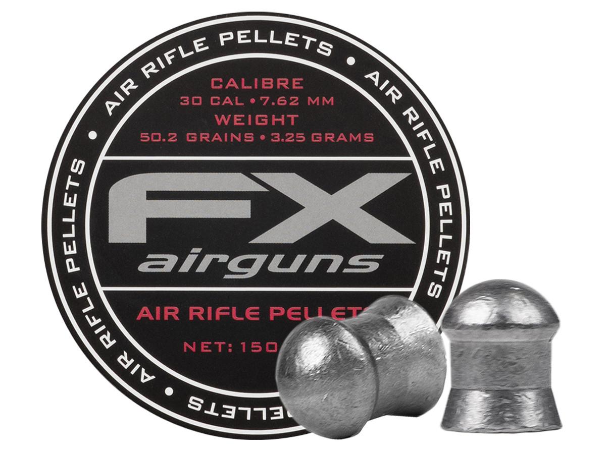FX Air Rifle Pellets .30 Cal, 50.2 Grains, Domed, 150ct.