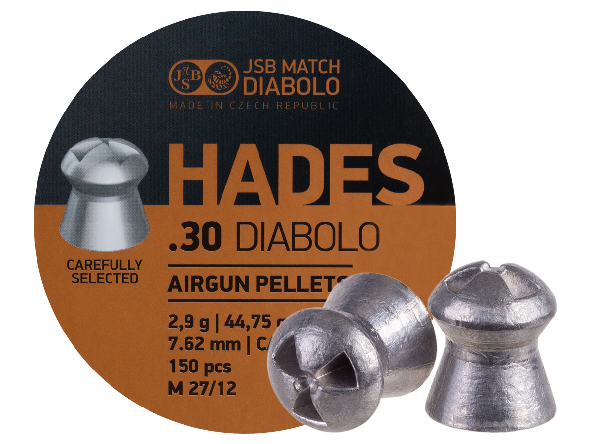 JSB Match Diabolo Hades, .30 Cal, 44.75gr, Hollowpoint, 150 ct