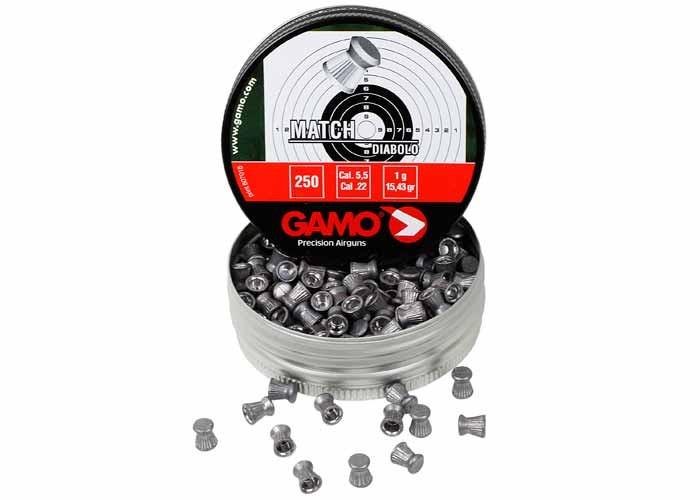 Gamo Match .22 Cal, 15.43 Grains, Wadcutter, 250ct