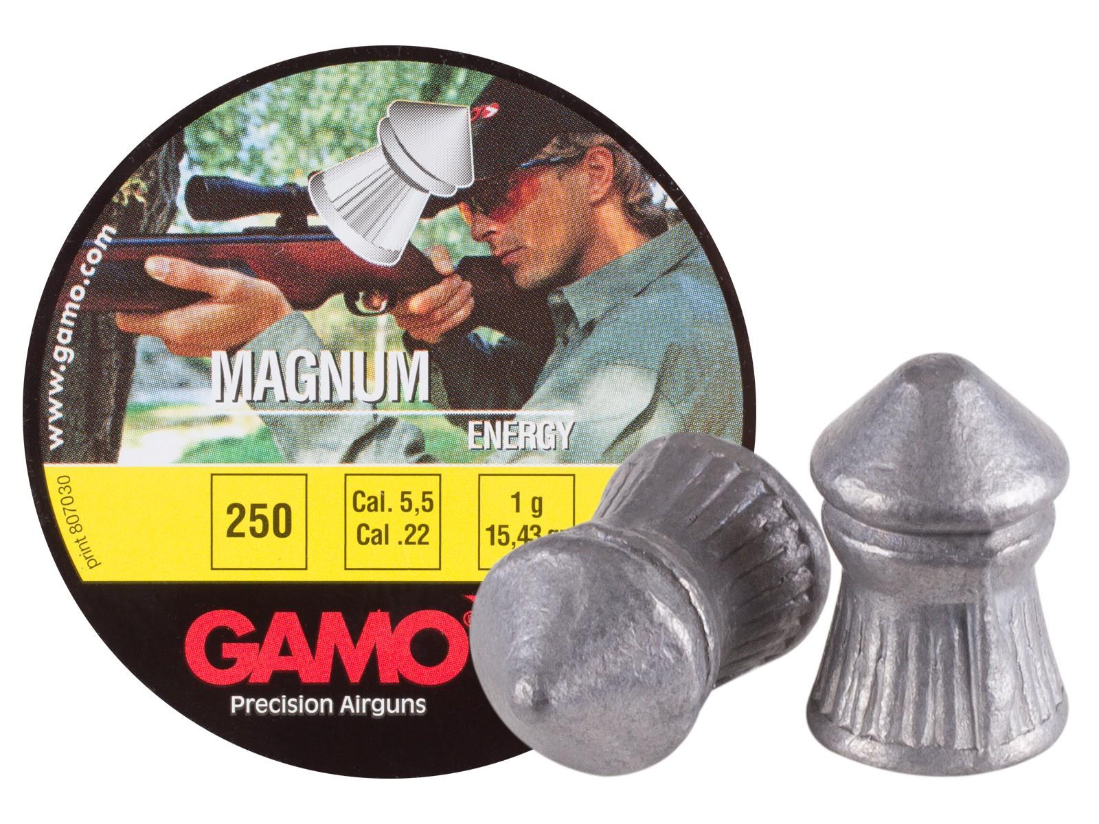 Gamo Magnum .22 Cal, 15.43 Grains, Pointed, 250ct