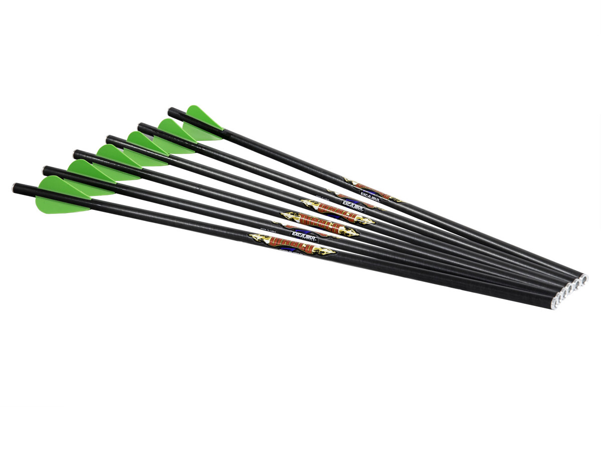"""Excalibur Diablo 18"""" Carbon Arrows, 6 Pack"""