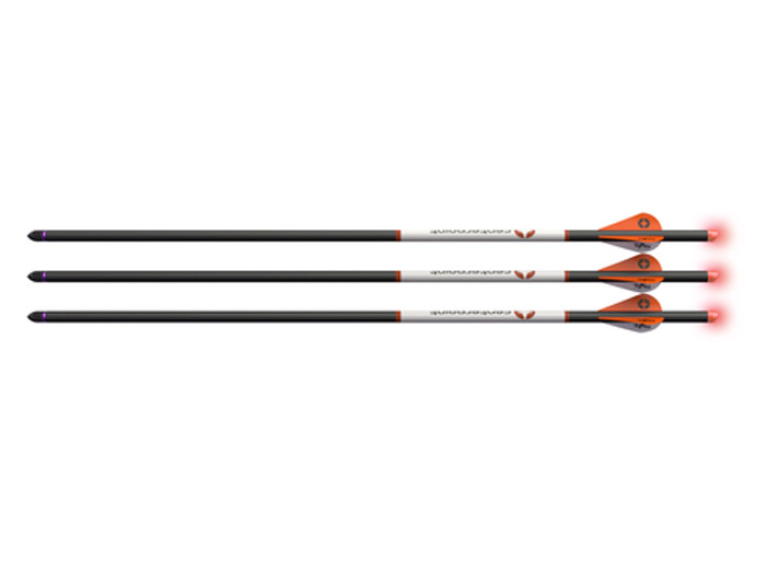 """CenterPoint 20"""" Premium Carbon Arrows, Lighted Red Nocks, 3 Pack"""
