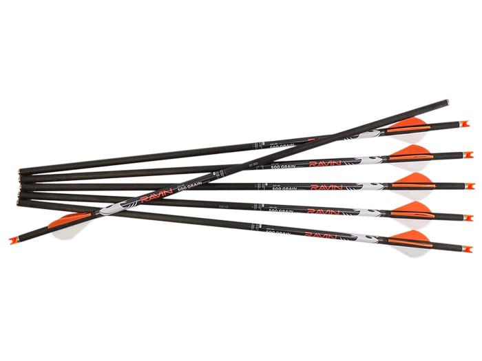 Ravin .001 HD Arrows, 500 Grains, 6 Pack