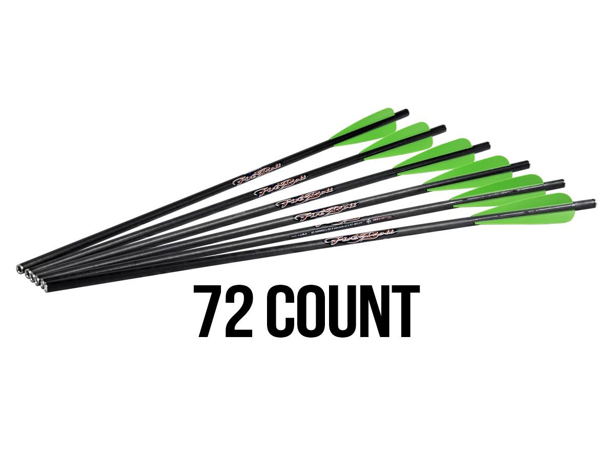 """Excalibur FireBolt 20"""" Carbon Arrows, 72 Pack"""