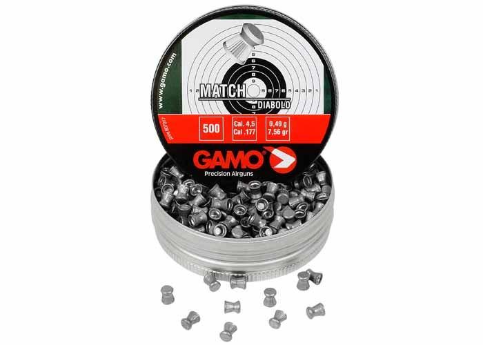 Gamo Match .177 Cal, 7.56 Grains, Wadcutter, 500ct