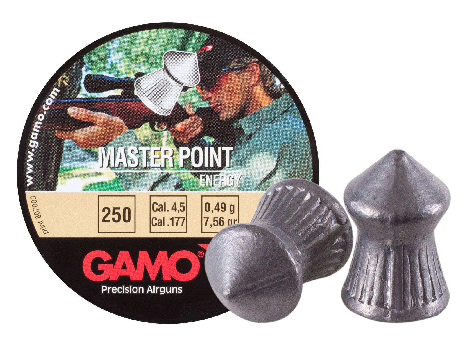 Gamo Master Point .177 Cal, 7.56 Grains, Pointed, 250ct