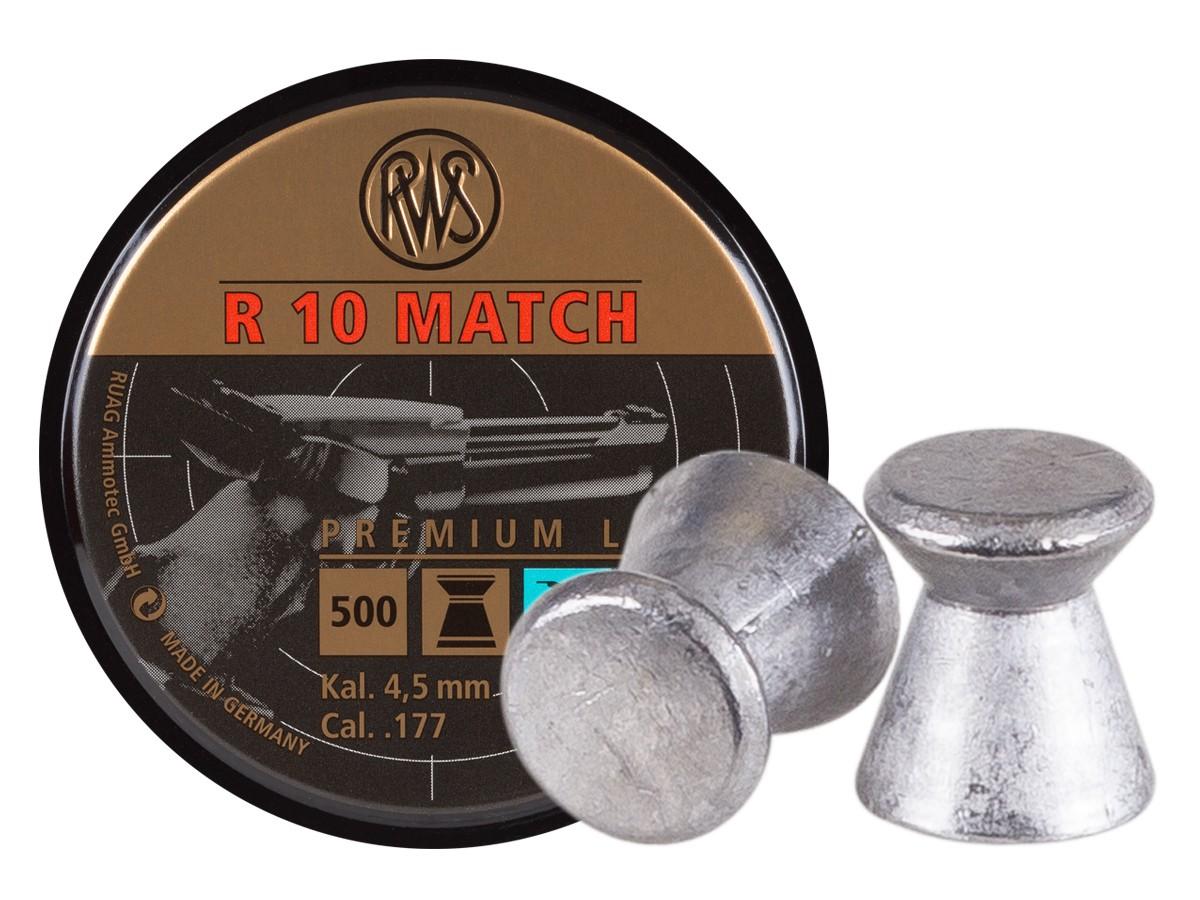RWS R-10 Match Pistol .177 Cal, 7.0 Grains, Wadcutter, 500ct