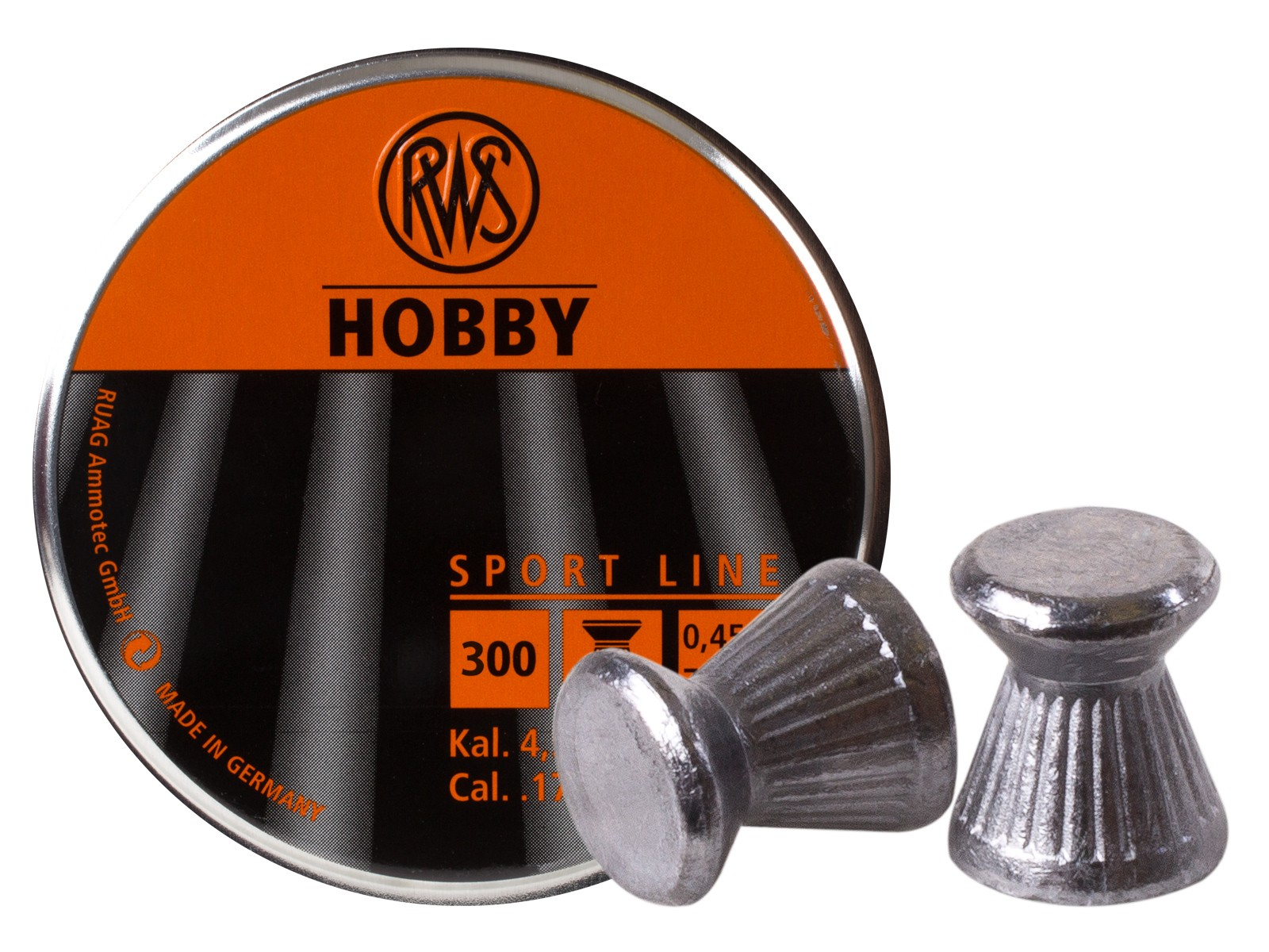 RWS Hobby .177 Cal, 7.0 Grains, Wadcutter, 300ct