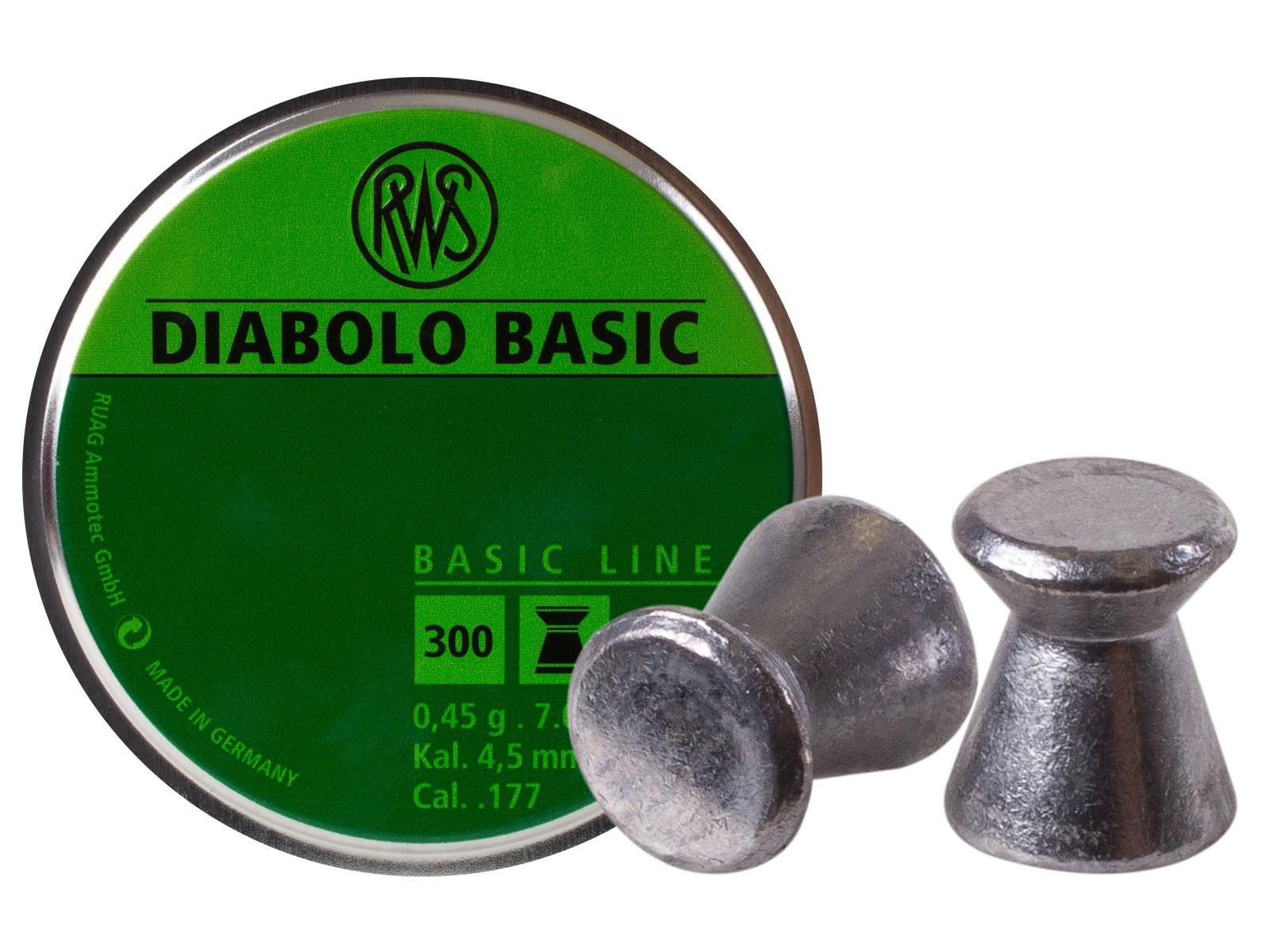 RWS Diabolo Basic .177 Cal, 7.0 Grains, Wadcutter, 300ct