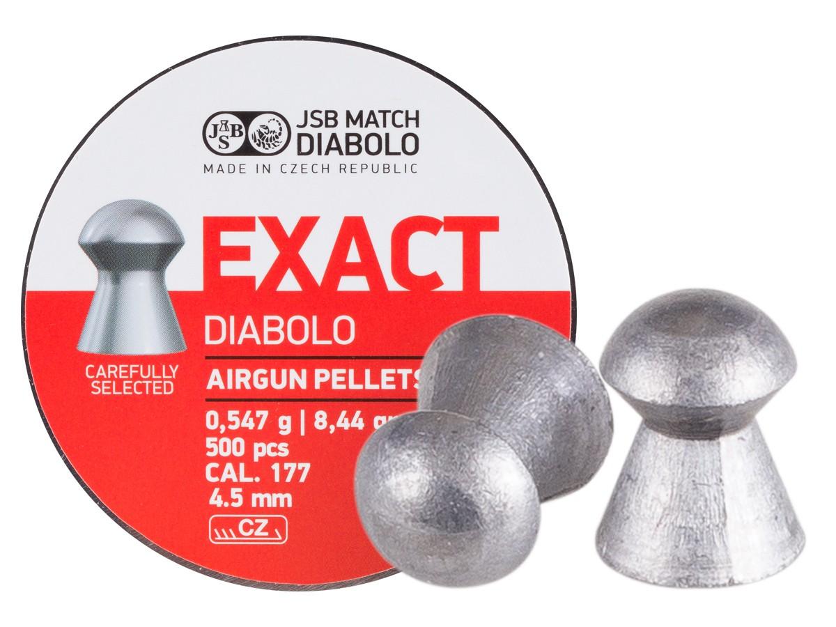 JSB Match Diabolo Exact .177 Cal, 8.44 Grains, Domed, 500ct