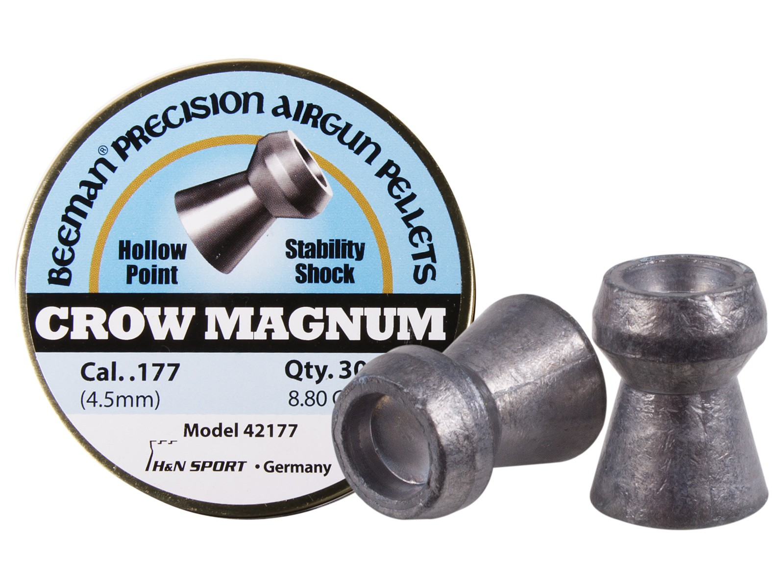 Beeman Crow Magnum .177 Cal, 8.80 Grains, Hollowpoint, 300ct