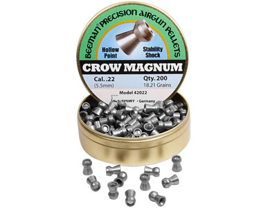 Beeman Crow Magnum .22 Cal, 18.21 Grains, Hollowpoint, 200ct