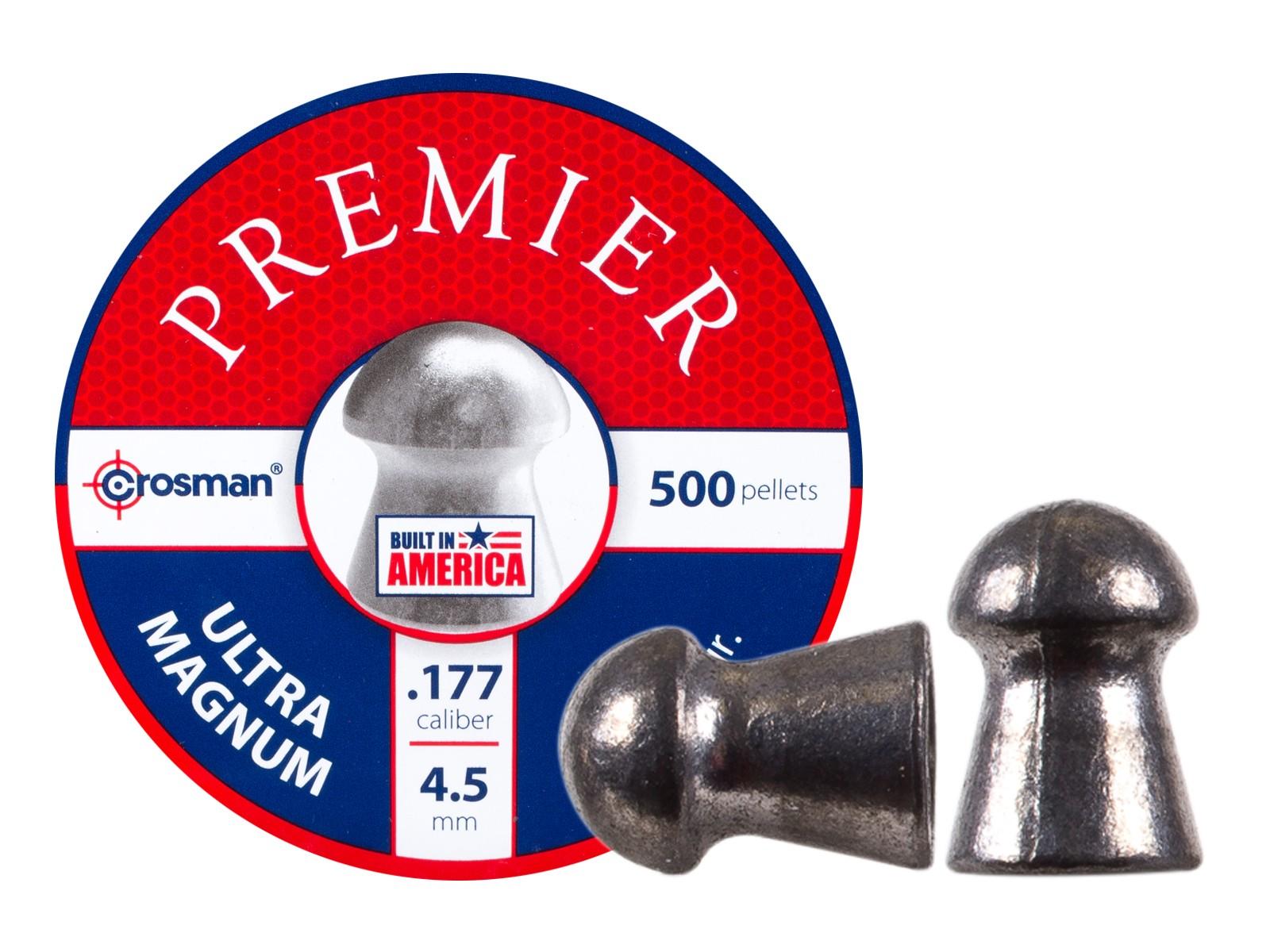 Crosman Premier Ultra Magnum .177 Cal, 10.5 Grains, Round Nose, 500ct