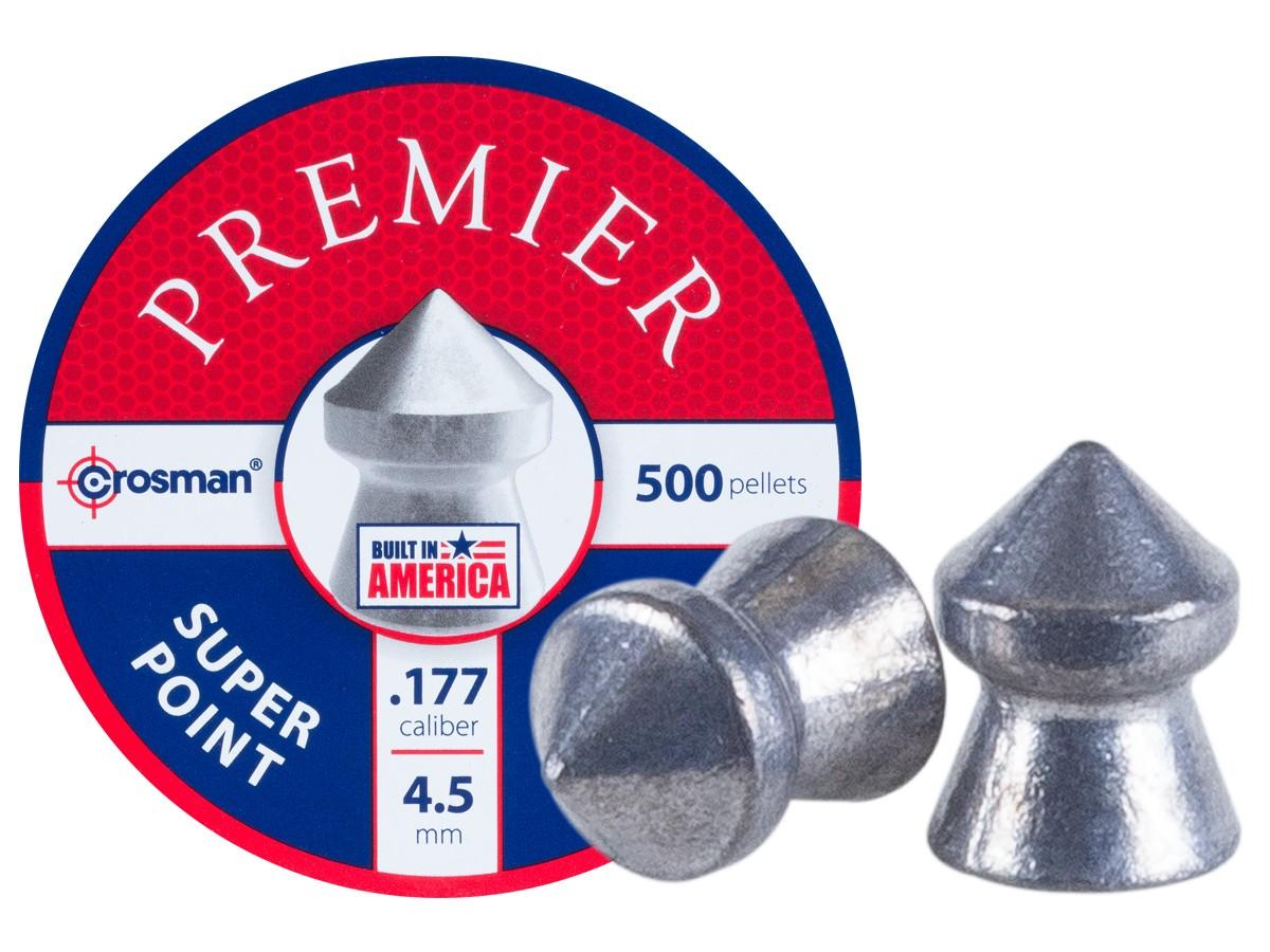 Crosman Premier Super Point .177 Cal, 7.9 Grains, Pointed, 500ct