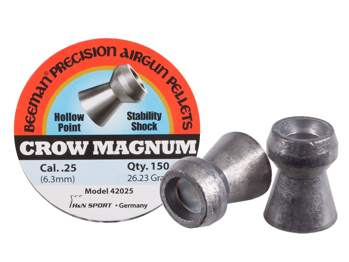 Beeman Crow Magnum .25 Cal, 26.23 Grains, Hollowpoint, 150ct