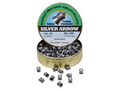 Beeman Silver Arrow .22 Cal, 17.13 Grains, Pointed, 200ct