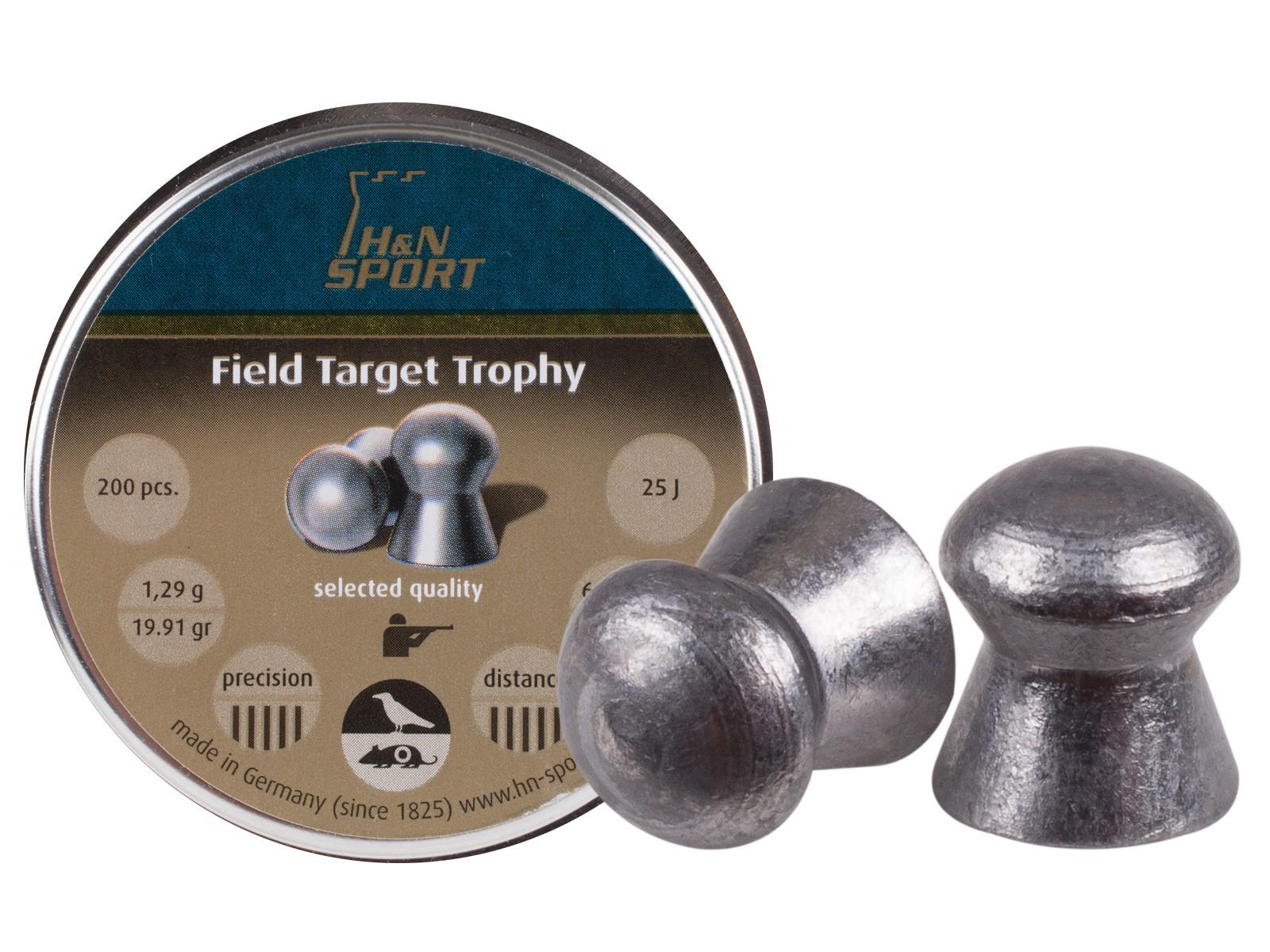 H&N Field Target Trophy .25 Cal, 19.91 Grains, Domed, 200ct