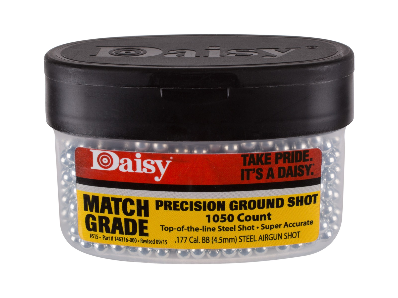 Daisy Match Grade Avanti Precision Ground Shot .177 Cal, 5.1 Grains, Steel BBs, 1050ct