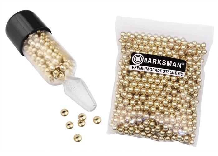 Marksman Premium Grade Steel BBs, 5.1 Grains, Speedloader, 1,300ct 0.177