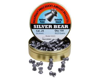 Beeman Silver Bear .25 Cal, 26.23 Grains, Hollowpoint, 150ct