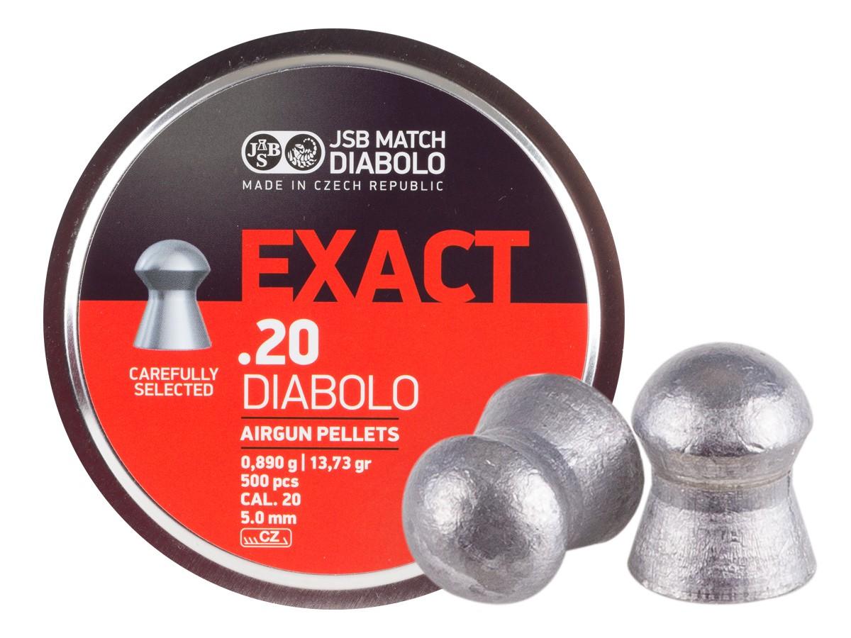 JSB Diabolo Exact .20 Cal, 13.73 Grains, Domed, 500ct