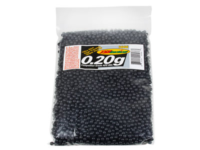 TSD Competition Grade 6mm plastic airsoft BBs, 0.20g, 3,000 rds, black