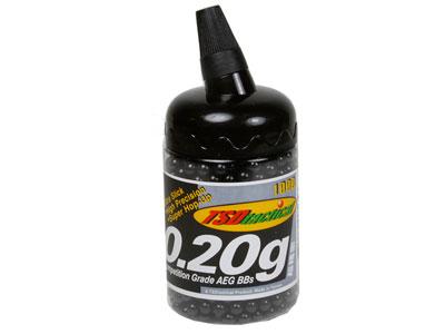 TSD Competition Grade AEG 6mm plastic airsoft BBs, 0.20g, 1,000 rds, black