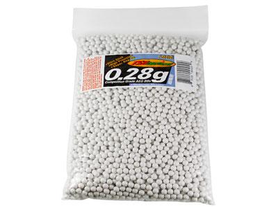 TSD Competition-Grade AEG 6mm plastic airsoft BBs, 0.28g, 5,000 rds, white