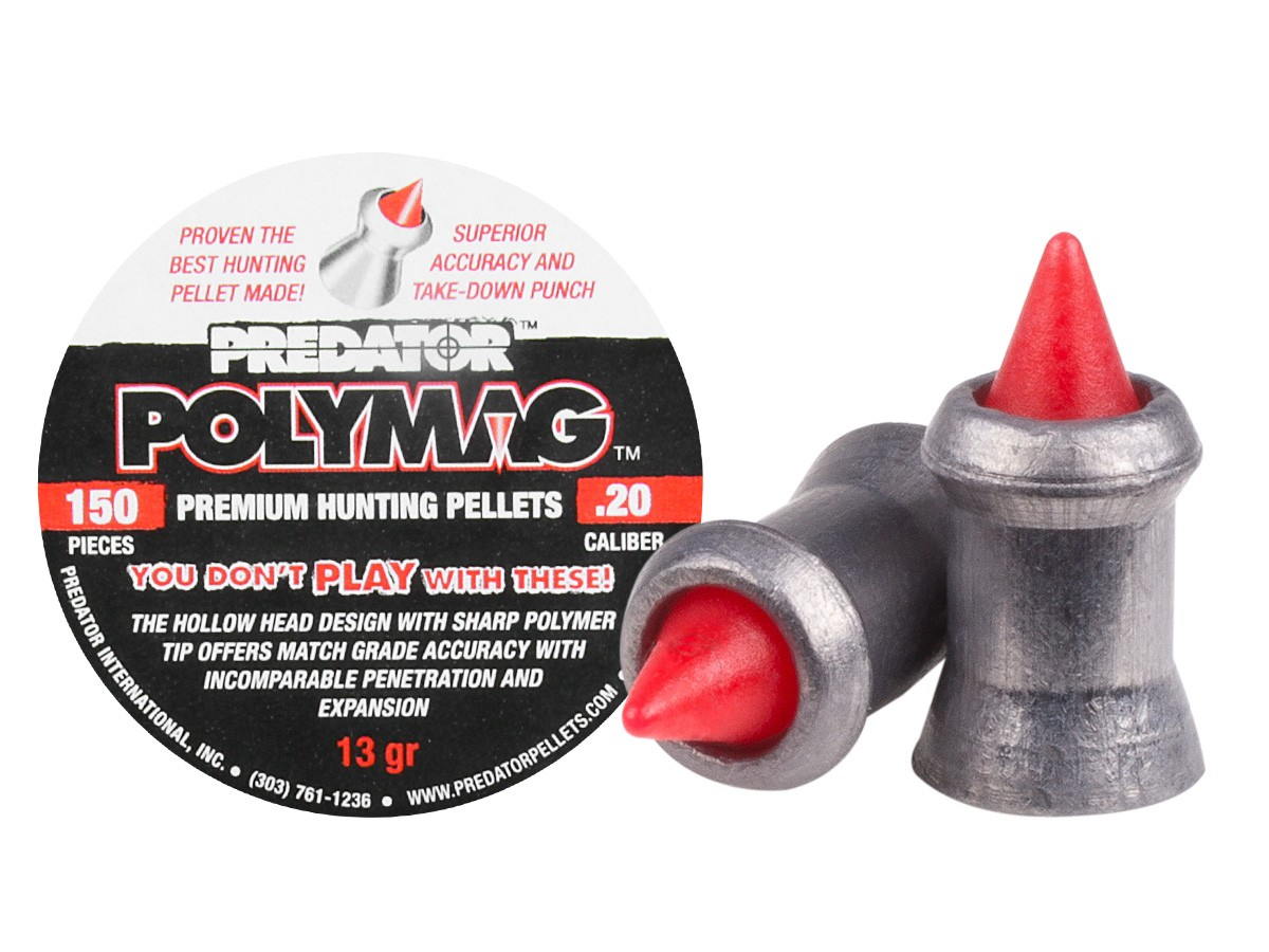 Predator Polymag .20 Cal, 13 Grains, Pointed, 150ct