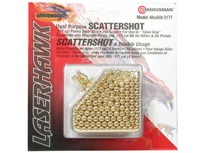 Marksman Laserhawk .177 Cal, Steel Shot, Plated, 750ct