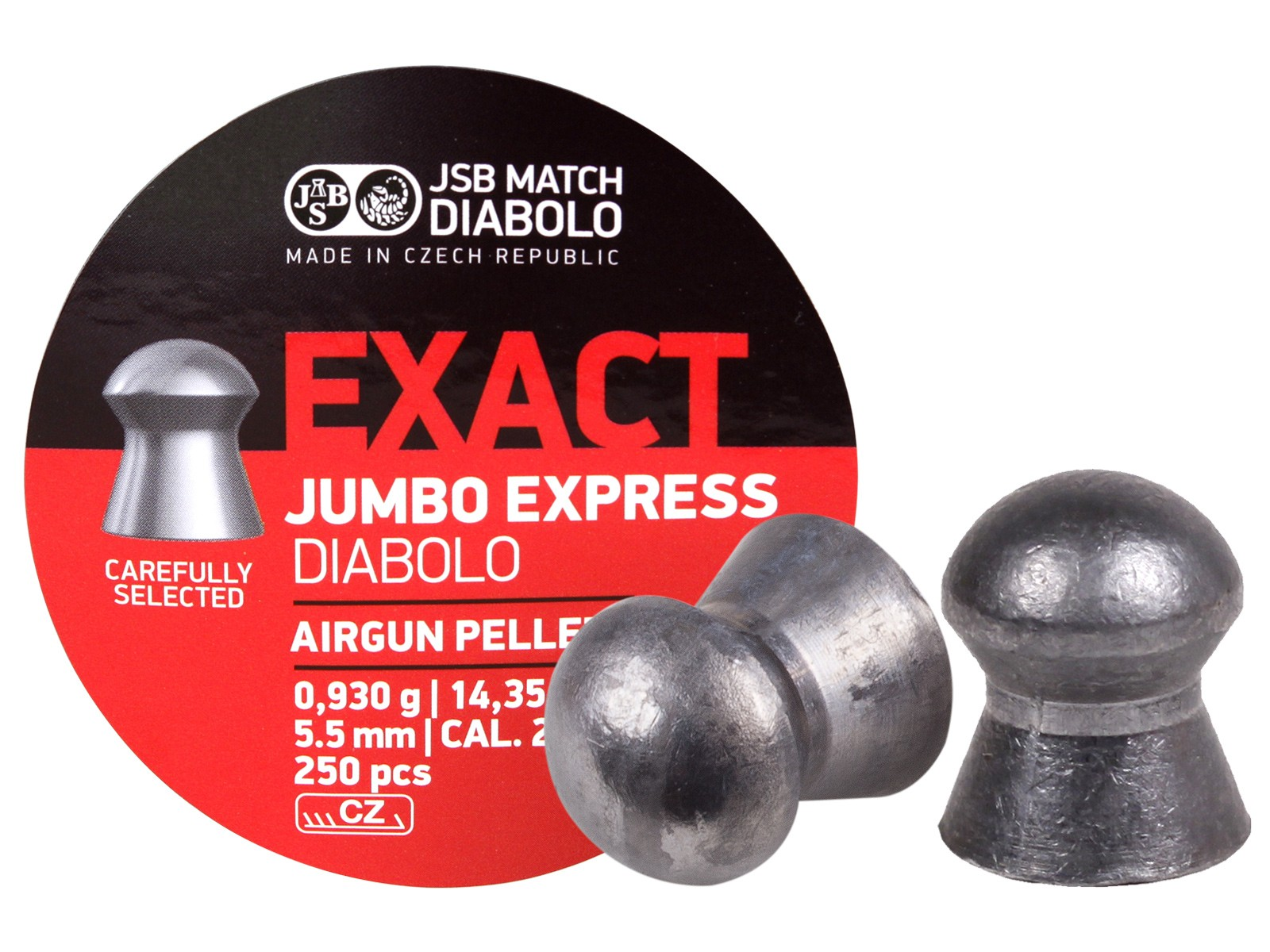 JSB Diabolo Exact Jumbo Express .22 Cal, 14.3 Grains, Domed, 250ct