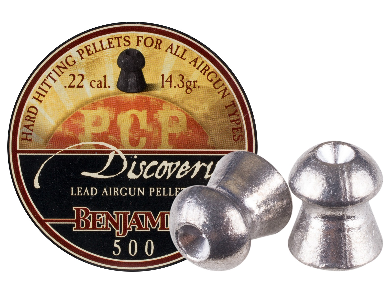 Benjamin Discovery .22 Cal, 14.3 Grains, Hollowpoint, 500ct