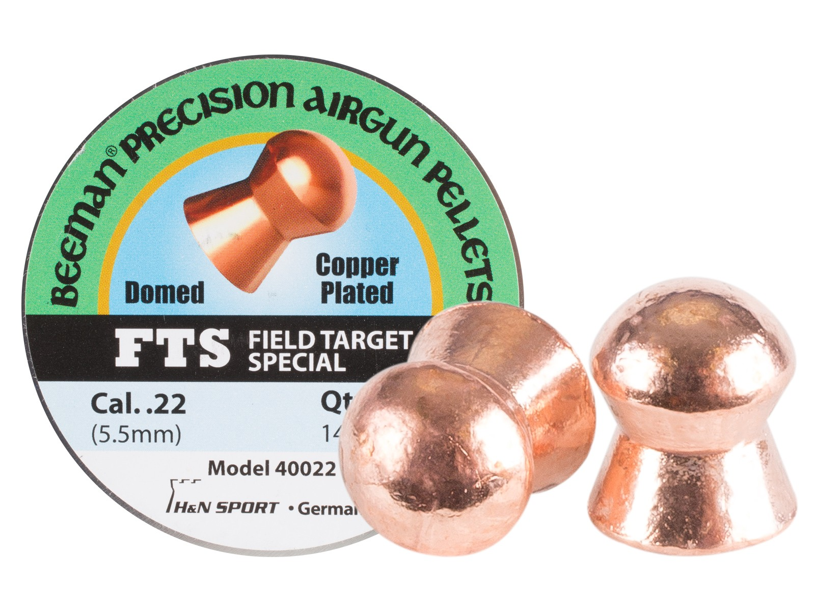 Beeman FTS Copper Plated .22 Cal, 14.72 Grains, Domed, 200ct
