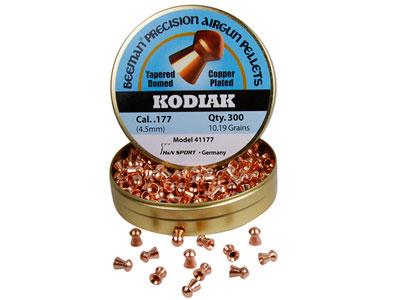 Beeman Kodiak Copper-Plated .177 Cal, 10.19 Grains, Round Nose, 300ct