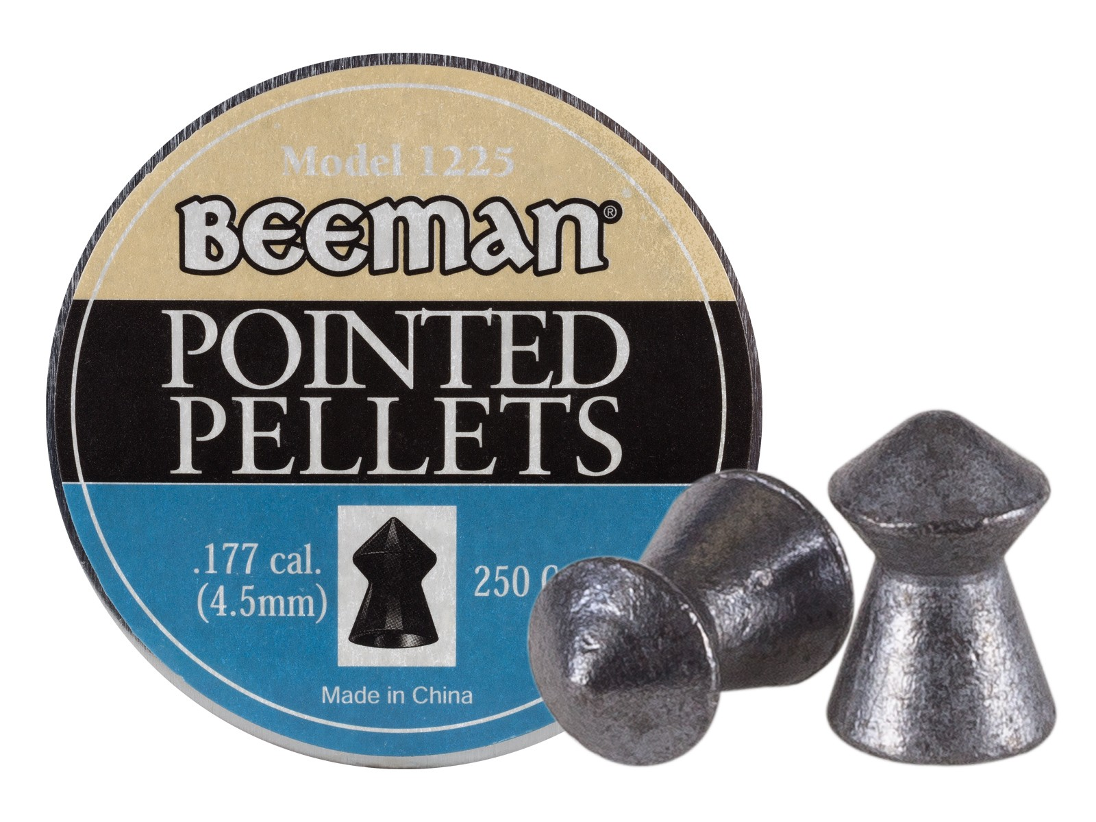 Beeman .177 Cal, 8.53 Grains, Pointed, 250ct