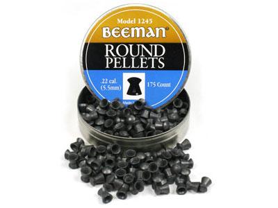 Beeman .22 Cal, 15.2 Grains, Round Nose, 175ct