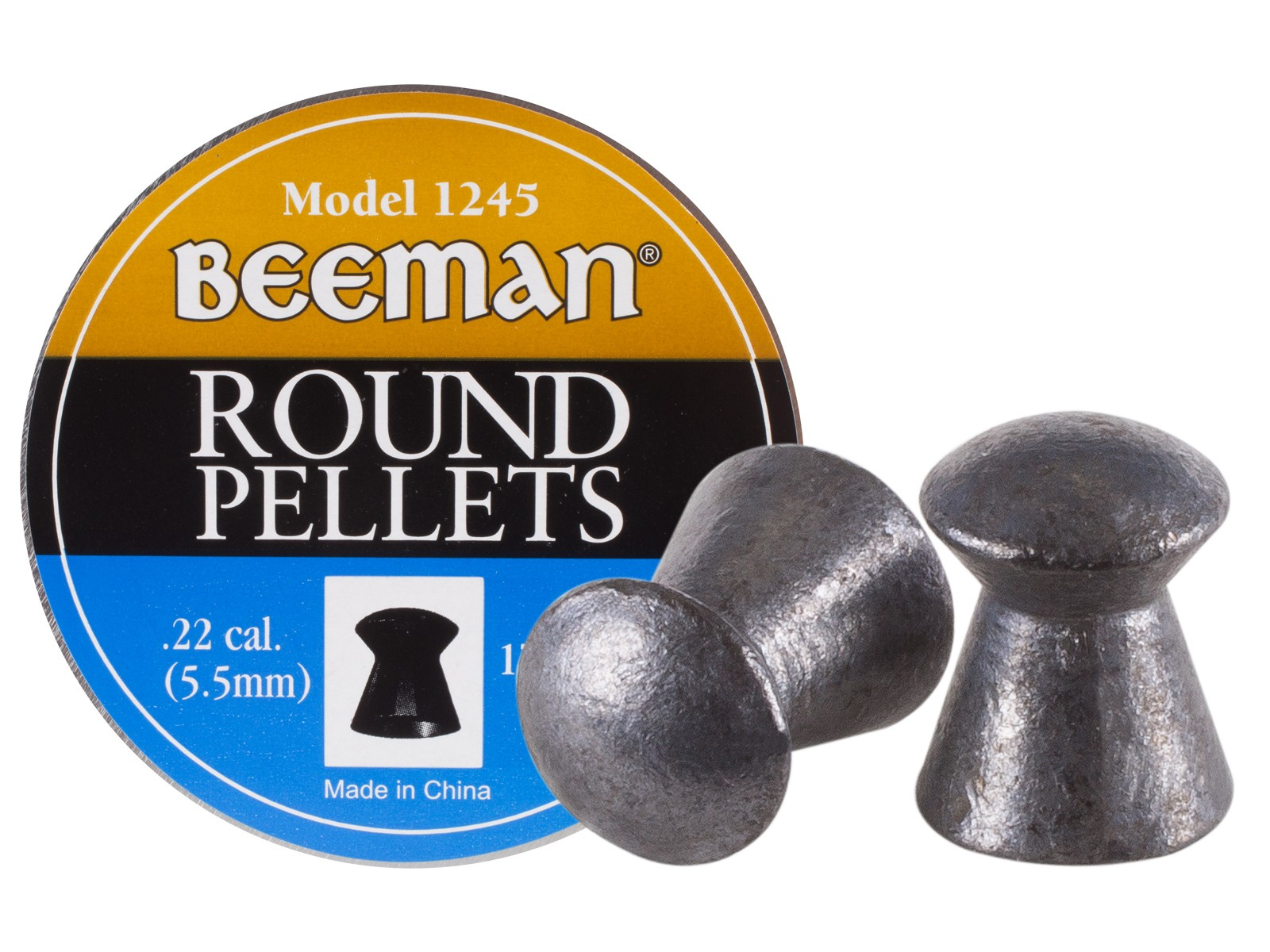 Beeman .22 Cal, 15.2 Grains, Round Nose, 175ct