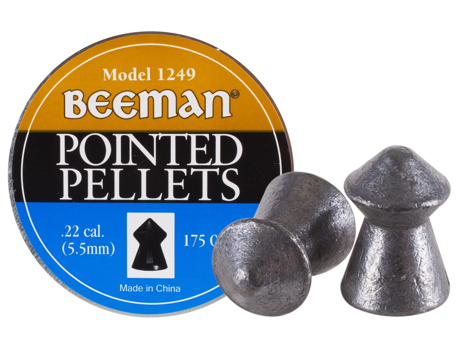 Beeman .22 Cal, 15.1 Grains, Pointed, 175ct