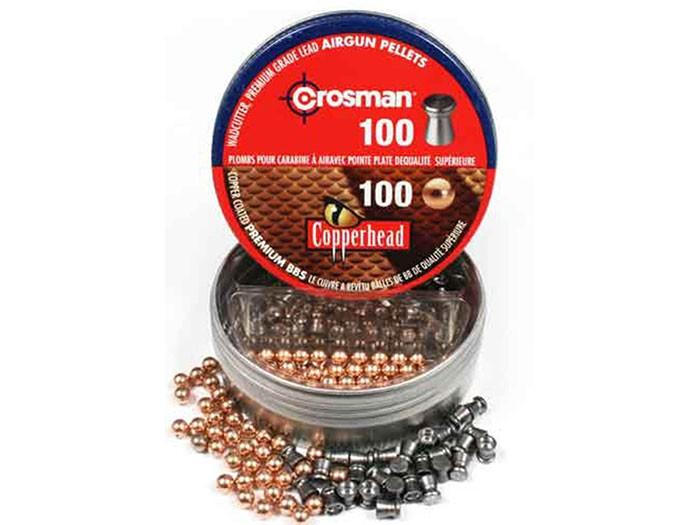 Crosman Dual Ammo, 100 Copperhead Steel BBs, 100 Wadcutter Pellets, 200ct