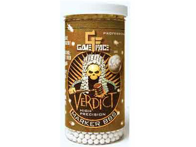 Game Face Verdict 6mm Marking Airsoft BBs, 0.20g, 2200 rds, White