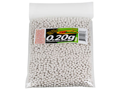 TSD Competition Grade 6mm plastic airsoft BBs, 0.20g, 3,000 rds, white