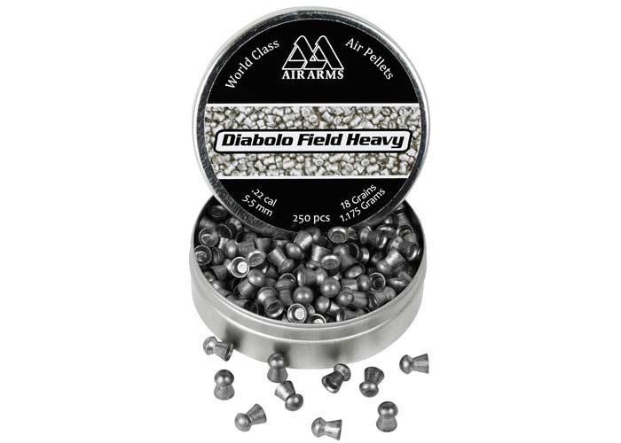 Air Arms Diablo Field Heavy .22 Cal, 5.52mm, 18 Grains, Round Nose, 250ct