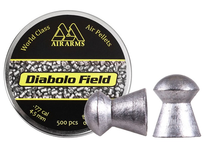 Air Arms Diabolo Field .177 Cal, 4.51mm, 8.44 Grains, Domed, 500ct