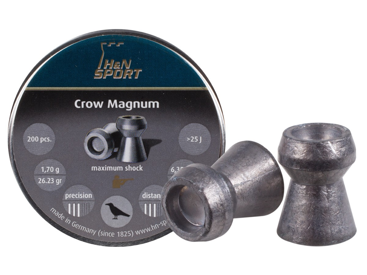 H&N Crow Magnum .25 Cal, 26.23 Grains, Hollowpoint, 200ct