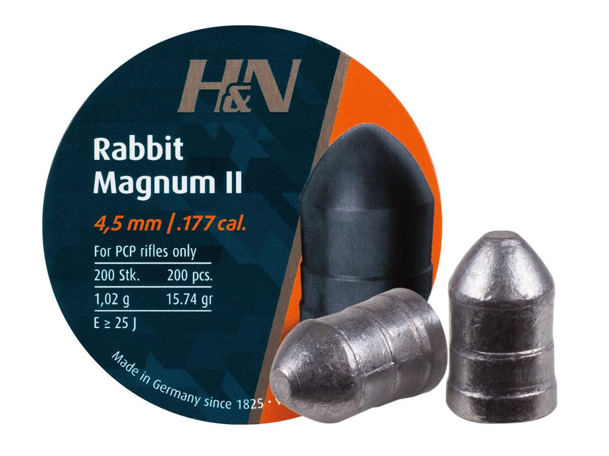 H&N Rabbit Magnum II .177 Cal., 15.74gr, Round Nose, 200ct
