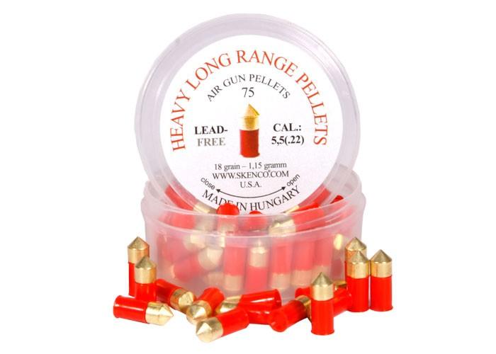 Skenco Heavy Long-Range .22 Cal, 18Grains, Pointed, Lead-Free, 75ct